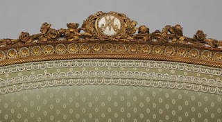 back of a bergere Louis XVI,