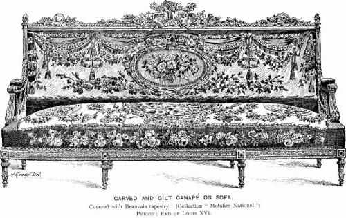 Louis XVI furniture upholstery