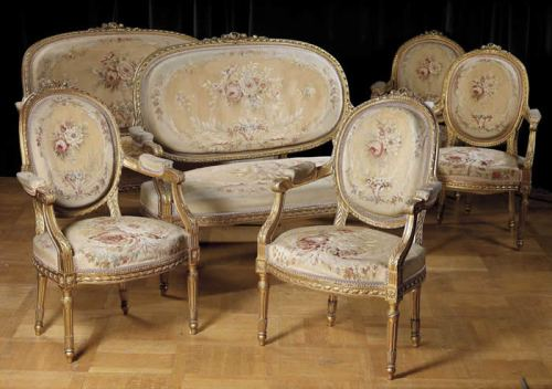 Settees and armchairs Louis XVI